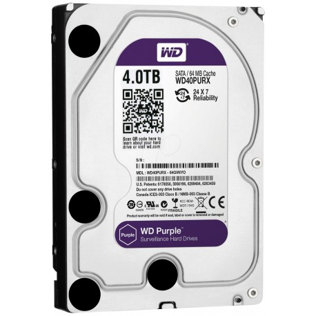 HDWD4TB DISCO DURO 4 TB Western Digital WD SERIE PURPLE especial para video vigilancia