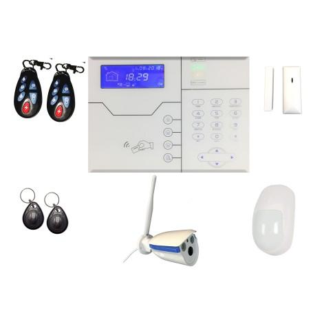 KIT XIX04 Kit de Alarma con Panel TCP/IP GSM GPRS 868Mhz y con Cámara XIXC-3300 IP Wifi Inalámbrica 1.0 MP para Interiores Tipo